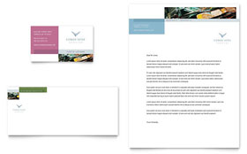 Limousine Service - Business Card & Letterhead Template Design Sample