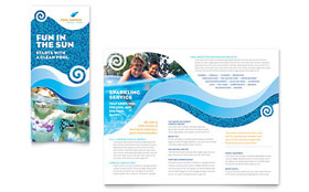 Swimming Pool Cleaning Service - Brochure Template Design Sample