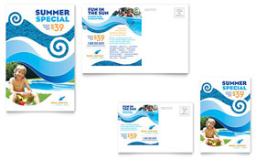 Swimming Pool Cleaning Service - Postcard Template