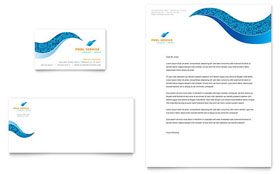 Swimming Pool Cleaning Service - Business Card Sample Template