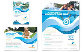 Swimming Pool Cleaning Service - Print Ad Sample Template