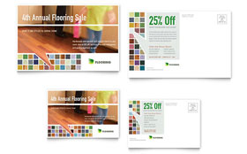 Carpet & Hardwood Flooring - Postcard Template