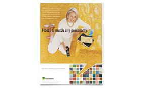 Carpet & Hardwood Flooring - Flyer Template