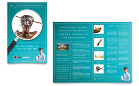 Pest Control Services - Brochure Template Design Sample