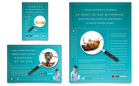 Pest Control Services - Print Ad Template