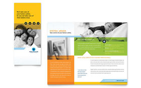 Home Security Systems - Brochure Template Design Sample