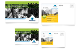 Home Security Systems - Postcard Template