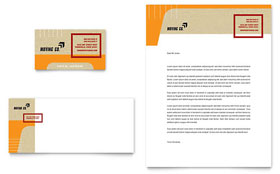 Movers & Moving Company - Business Card & Letterhead Template Design Sample