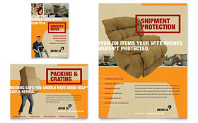 Movers & Moving Company - Flyer & Ad Template Design Sample