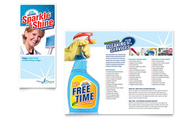 House Cleaning & Housekeeping - Brochure Template Design Sample