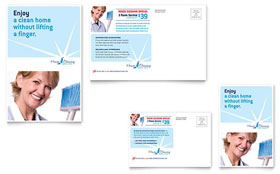 House Cleaning & Housekeeping - Postcard Template
