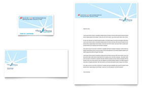 House Cleaning & Housekeeping - Business Card & Letterhead Template Design Sample