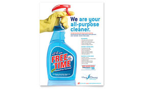 House Cleaning & Housekeeping - Flyer Template