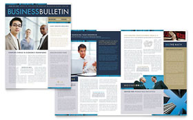 Small Business Consulting - Newsletter Sample Template