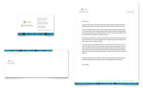 Small Business Consulting - Business Card & Letterhead Template Design Sample