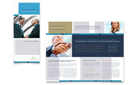 Small Business Consulting - Adobe Illustrator Tri Fold Brochure Template