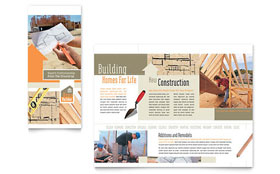 Home Building Carpentry - CorelDRAW Brochure Template