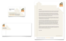 Home Building & Construction - Business Card & Letterhead Template Design Sample