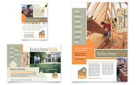 Home Building & Construction - Flyer & Ad Template Design Sample