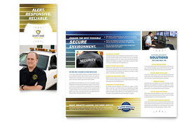 Security Guard - Tri Fold Brochure Template Design Sample