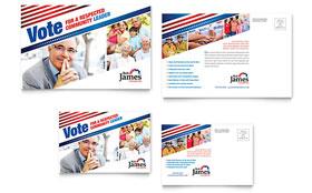 Political Campaign - Postcard Template
