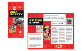 Fire Safety - Adobe InDesign Brochure Template