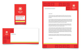 Fire Safety - Business Card & Letterhead Template Design Sample