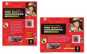 Fire Safety - Poster Sample Template