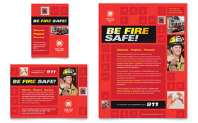 Fire Safety - Leaflet Template