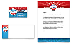 Political Candidate - Business Card & Letterhead Template