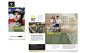 Military Recruiting - Brochure Template