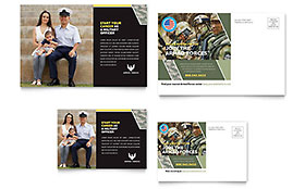 Military - Postcard Template