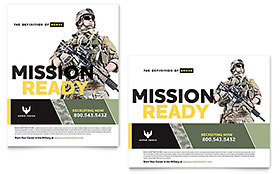 Military - Poster Sample Template