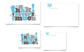 Thank You Very Much - Note Card Template