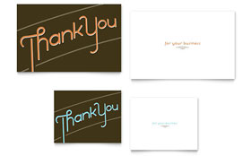 Thank You - Note Card Sample Template