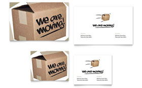 We're Moving Announcement - Note Card Template Design Sample