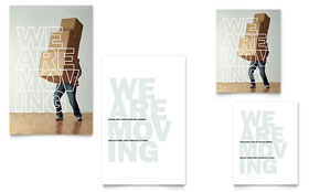 We're Moving - Note Card Template Design Sample