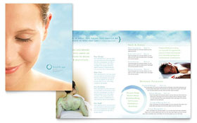 Day Spa & Resort - Brochure Template Design Sample