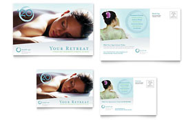 Day Spa & Resort - Postcard Template Design Sample