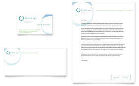 Day Spa & Resort - Business Card & Letterhead Template Design Sample