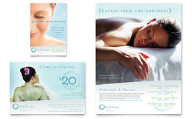 Day Spa & Resort - Flyer & Ad Template Design Sample