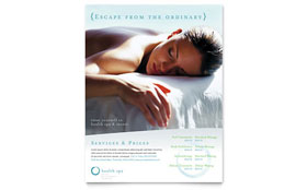 Day Spa & Resort - Flyer Template Design Sample