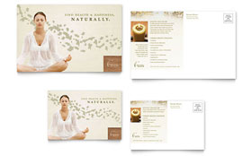 Naturopathic Medicine - Postcard Template Design Sample