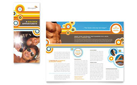 Tanning Salon - Microsoft Word Brochure Template