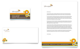 Tanning Salon - Business Card & Letterhead Template Design Sample