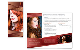 Hair Stylist & Salon - Apple iWork Pages Brochure Template
