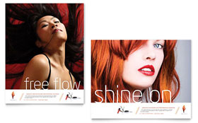 Hair Stylist & Salon - Poster Template