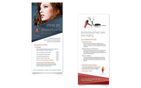 Hair Stylist & Salon - Rack Card Template