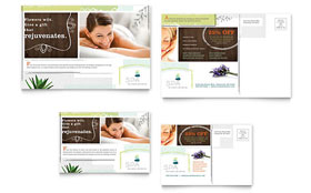 Day Spa - Postcard Sample Template