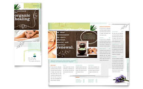 Day Spa - Tri Fold Brochure Template Design Sample